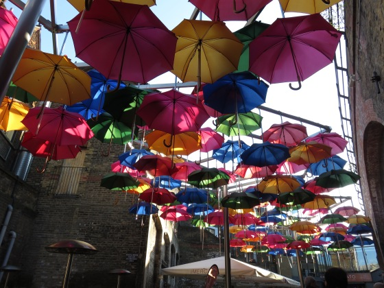 Colourful brollies