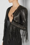 Splurge alert: Balmain fringe leather biker jacket, $6,058 from net-a-porter.com.
