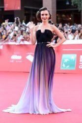 lily-collins-purple-dress