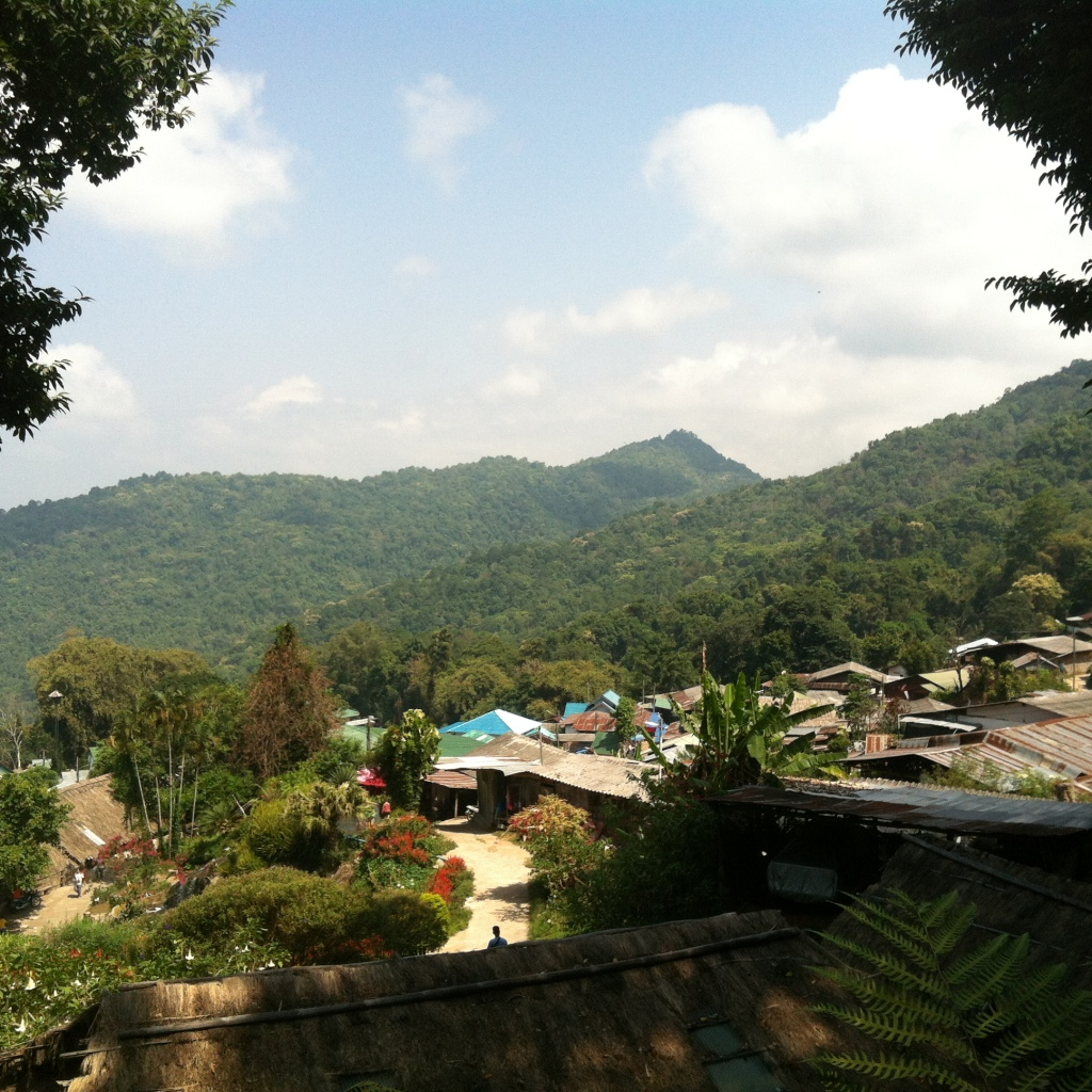 The view from the top of Meo Hill, while drinking my organic, locally grown and produced coffee. Bliss.