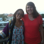 With my roomie and Laos BFF, Anja, enjoying the sunset over the Mekong.