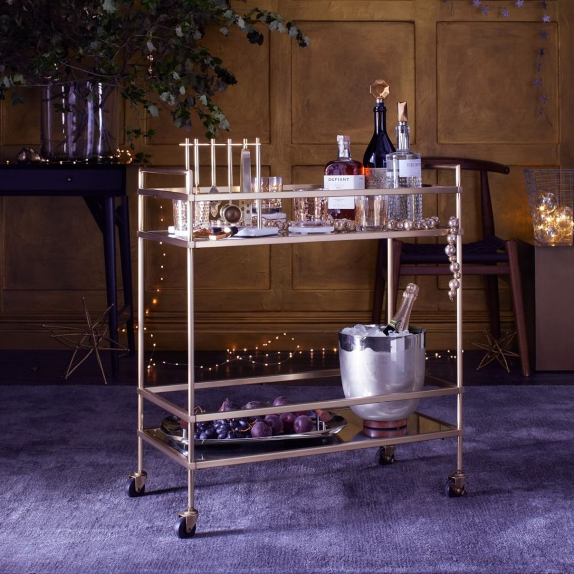 Mother's Day gift guide - West Elm terrace bar cart