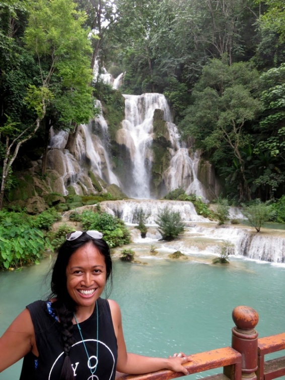 The impressive Kuang Si Falls