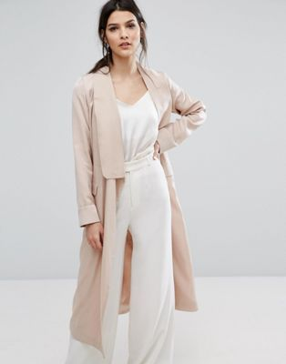 asos neon rose coat