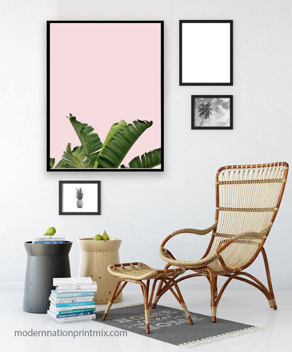 banana leaf blush pink